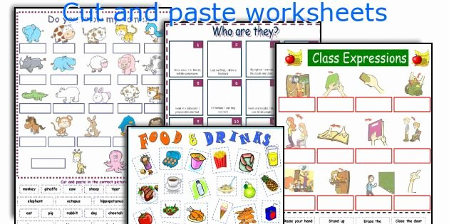 Cut and Paste Worksheets Free Cut and Paste Worksheets