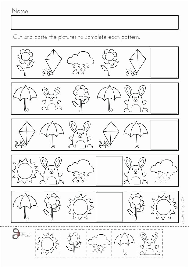 Cut and Paste Worksheets Free Free Printable Shapes Cutting Worksheets and Scissor Skills