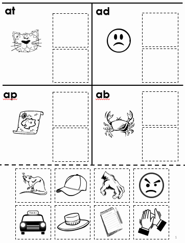 Cut and Paste Worksheets Free Free Rhyming Cut and Paste for Phonological Awareness