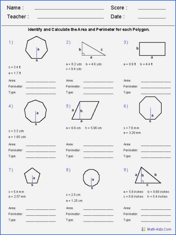 Cut and Paste Worksheets Inspirational Cutting Worksheets Unique Polygons Worksheet – 7th Grade