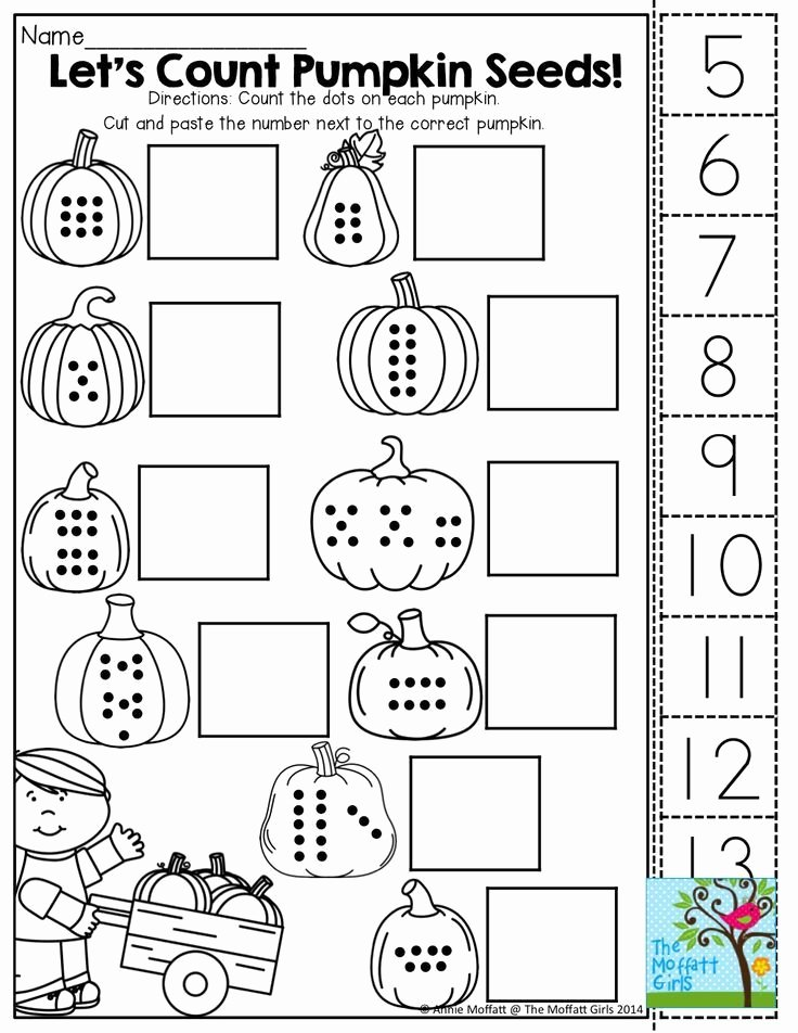 Cut and Paste Worksheets Kindergarten Count Cut and Paste tons Of Fun Printables