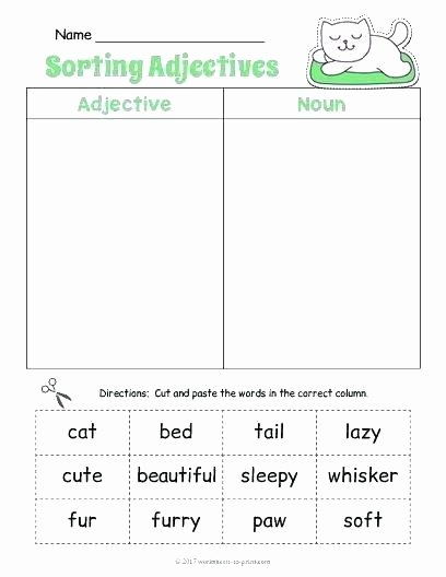 Cut and Paste Worksheets Kindergarten Cut and Paste Worksheets for Kids