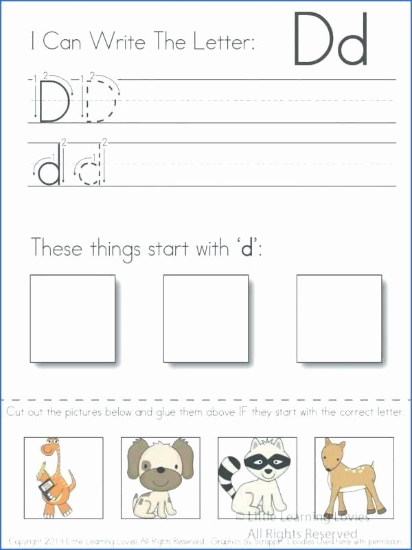 Cut and Paste Worksheets Kindergarten Free Printable Letter D Tracing Worksheets for Preschool and