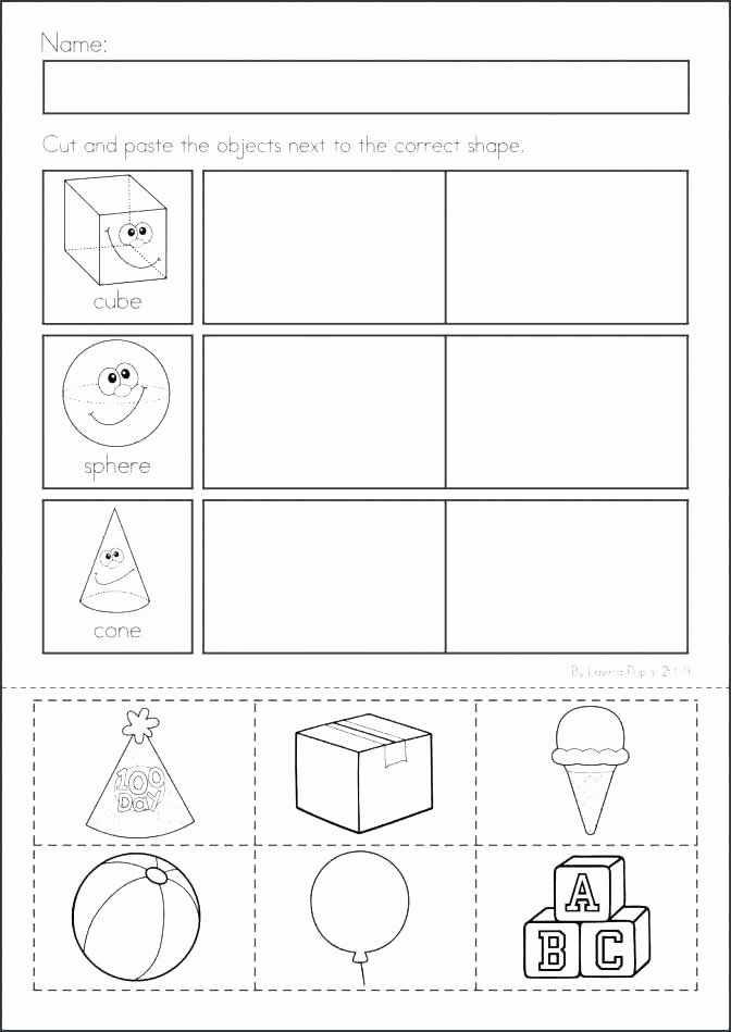 Cut and Paste Worksheets Kindergarten Shapes Worksheets Kindergarten Beautiful Pin by Teaching