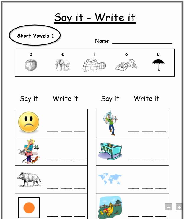 Cvc Cut and Paste Worksheets Cvc Worksheets Printable Work Sheets • Keepkidsreading