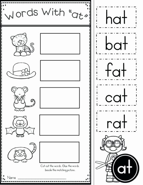Cvc Cut and Paste Worksheets Free Word Family at Practice and Activities Free Cvc Phonics