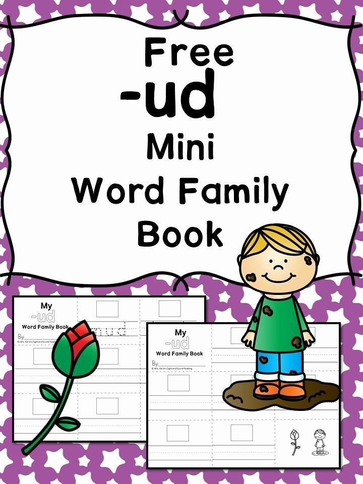 Cvc Cut and Paste Worksheets Ud Cvc Word Family Worksheets Make A Word Family Book