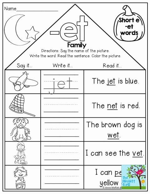 Cvc Words Worksheets Pdf 001 Cvc Word Familys Remarkable Family Printables Printable