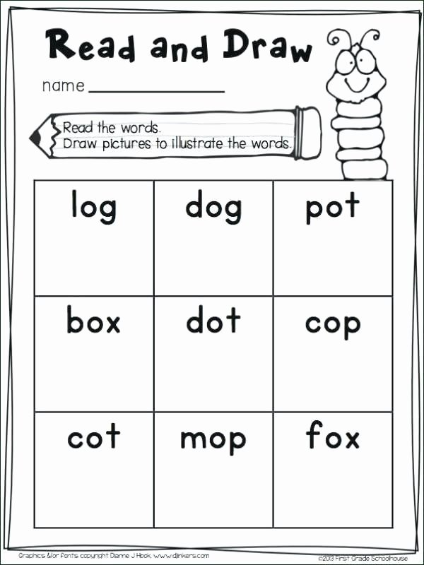 Cvc Words Worksheets Pdf Cvc Words with Worksheets for Kindergarten Free