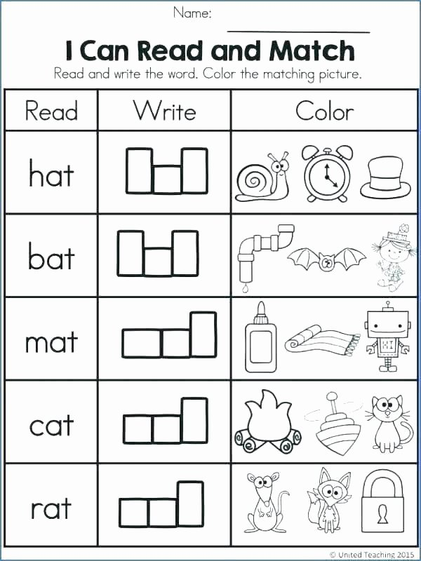 Cvc Words Worksheets Pdf Cvc Worksheets for Kindergarten