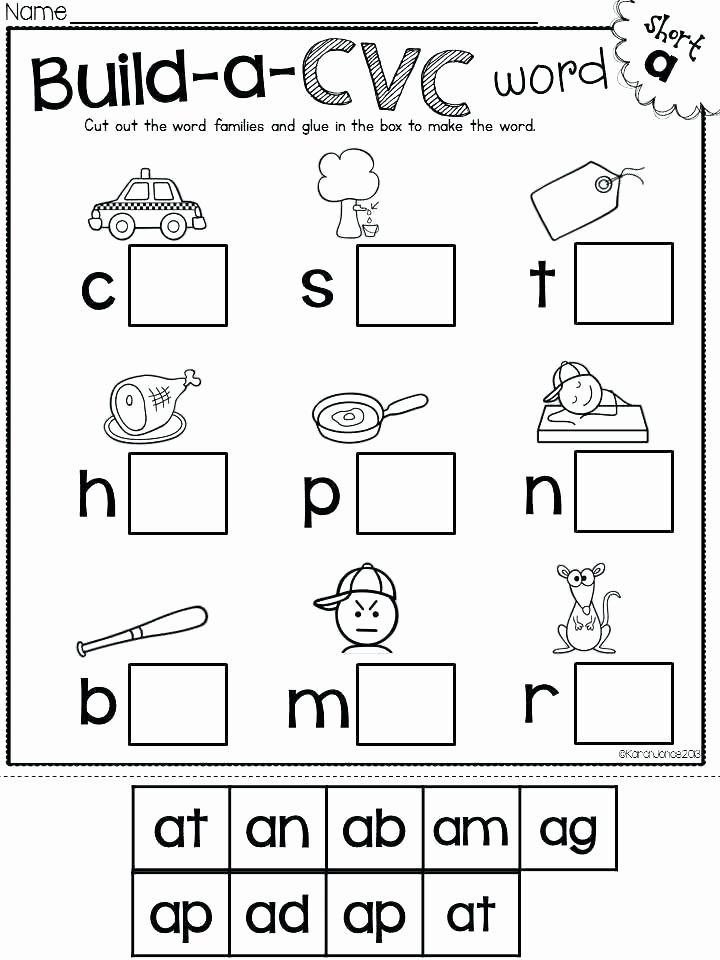 Cvc Worksheet Kindergarten Cvc Worksheets 2nd Grade