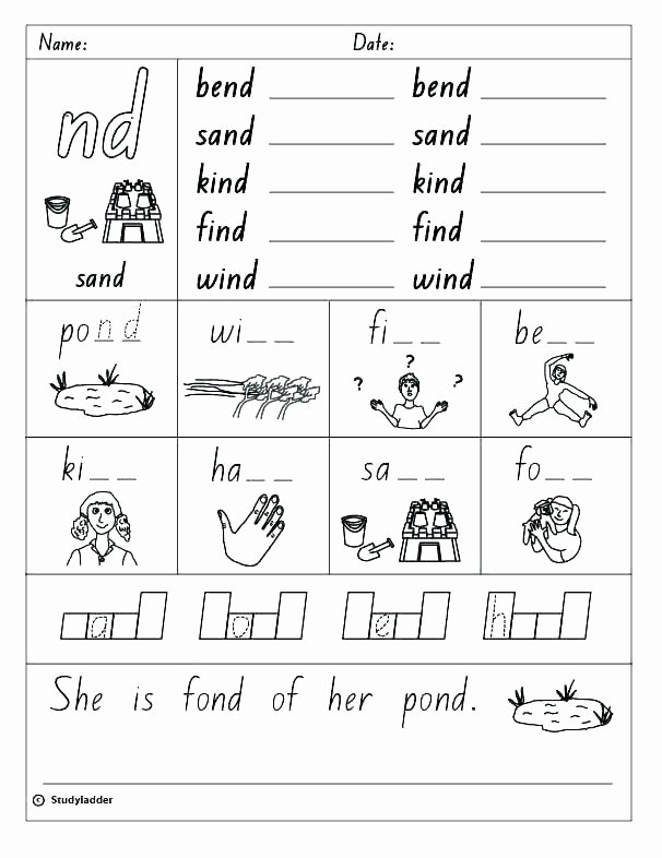 Cvc Worksheet Kindergarten Free Worksheets Library Download and Print Words Short A