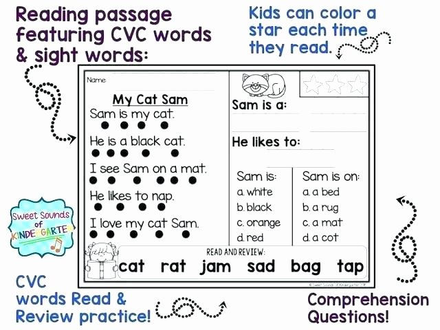 Cvc Worksheet Kindergarten Spelling Cvc Words Worksheets
