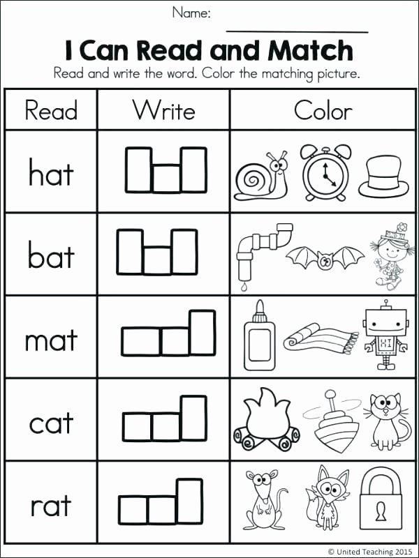 Cvc Worksheet Kindergarten Worksheets Google Search Phonics for Kindergarten S Cvc Pdf