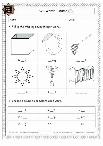 Cvc Worksheets for Kinder Worksheets for Kinder Writing Printable Cvc Kindergarten Pdf