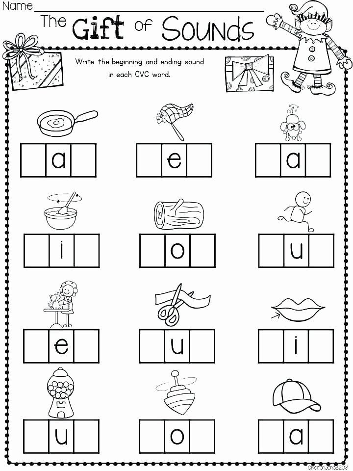 Cvc Worksheets Kindergarten Free Blending Cvc Words Worksheets