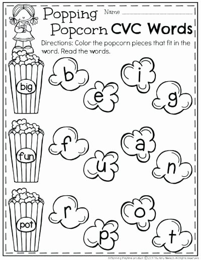 Cvc Worksheets Kindergarten Free Cvc Words Worksheets Free