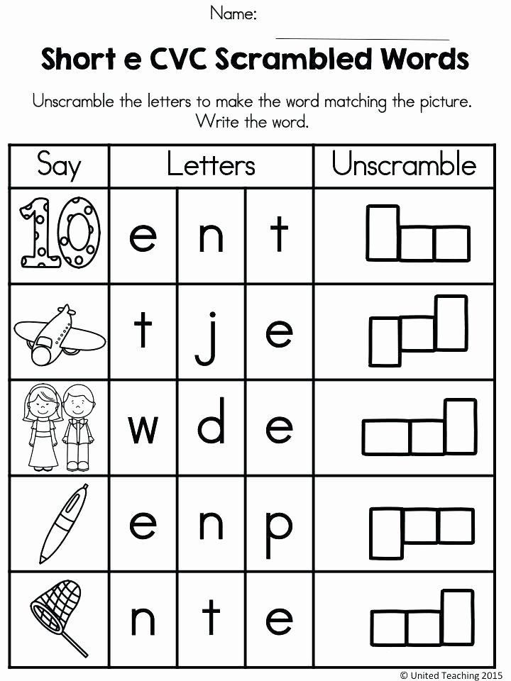 Cvc Worksheets Kindergarten Free Free Printable Cvc Worksheets Worksheet 4 Write the Words