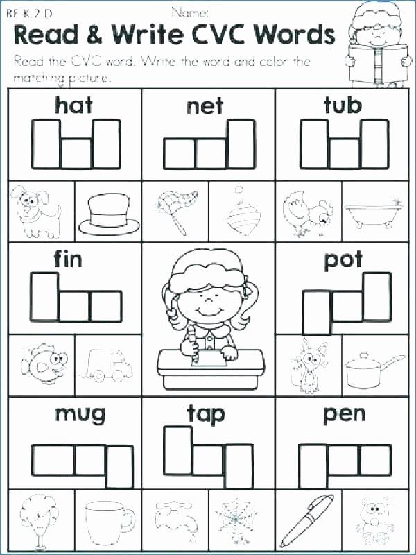 Cvc Worksheets Kindergarten Free Worksheets Kindergarten Free Phonics Worksheets Words