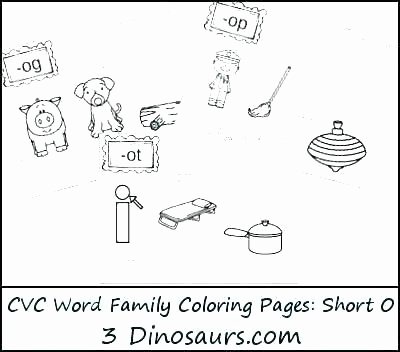 at family worksheets new word coloring pages short i vowel 3 dinosaurs free in can read and match words part of the cvc ap