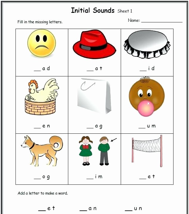 Cvc Worksheets Pdf Inspirational Word List for Kindergarten Cvc Word Family