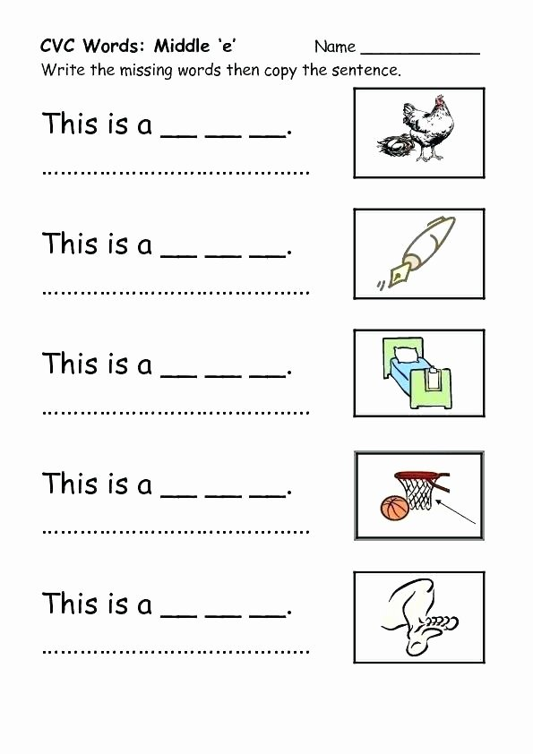 Cvc Worksheets Pdf Words Worksheets Free Printable Cut and Paste Cvc