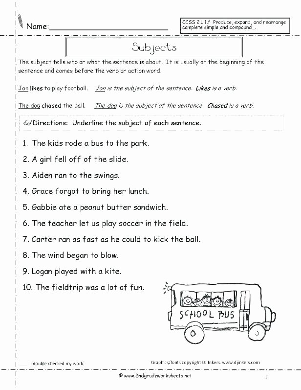 Daily Edit Worksheet Beautiful Number Sentence Worksheets Grade 2nd Plete Sentences