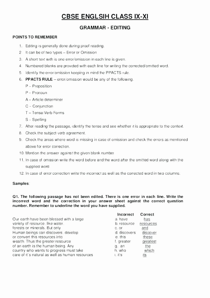 Daily Edit Worksheet Fresh Grade Writing Worksheets Lessons New 8 Reading and