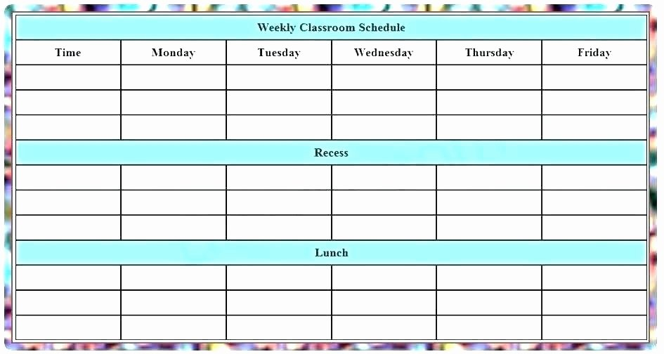 Daily Edits Worksheets Free Printable Class Schedule Template