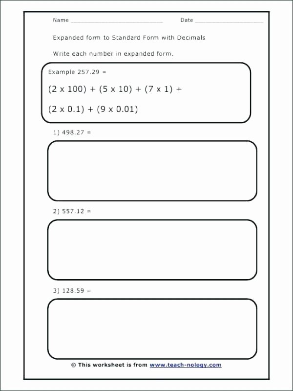 Decimal Expanded form Worksheet What is Expanded Notation Definition Examples Video Lesson