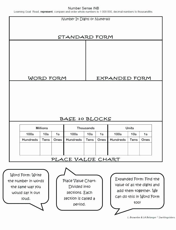 Decimal Expanded form Worksheet Writing Standard and Expanded form Differentiated Worksheet