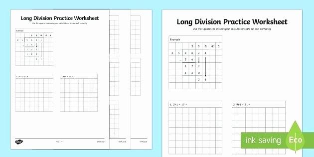 Decimal Long Division Worksheet Long Division Practice Worksheet Maths Decimal Numeration