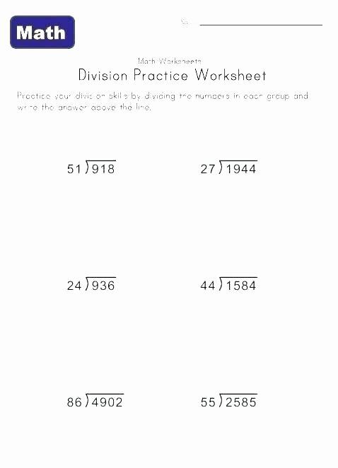 Decimal Long Division Worksheet Long Division Worksheets Grade 5