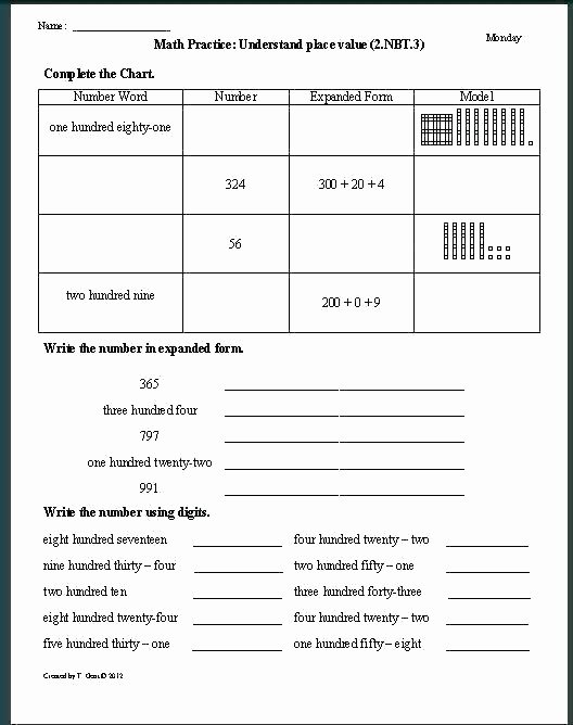 Decimals Expanded form Worksheet Expanded Notation Worksheets for 4th Grade