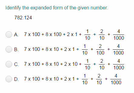 Decimals Expanded form Worksheet Writing Decimals In Words and their Expanded Notation Quiz
