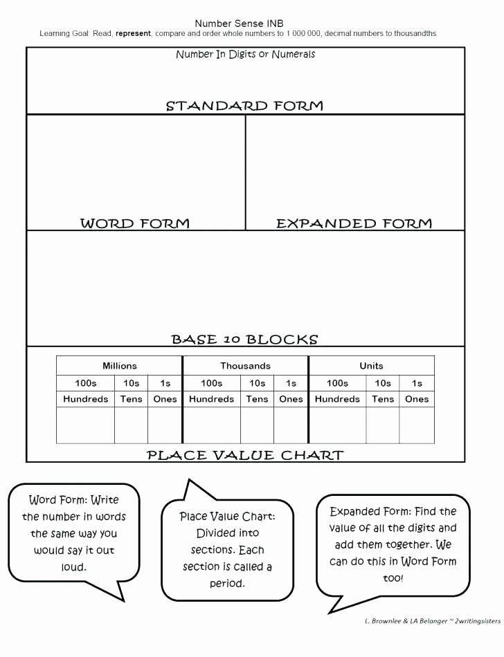 Decimals Expanded form Worksheet Writing Standard and Expanded form Differentiated Worksheet
