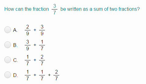 Decomposing Fractions Worksheets 4th Grade De Pose Fractions Quiz Turtle Diary