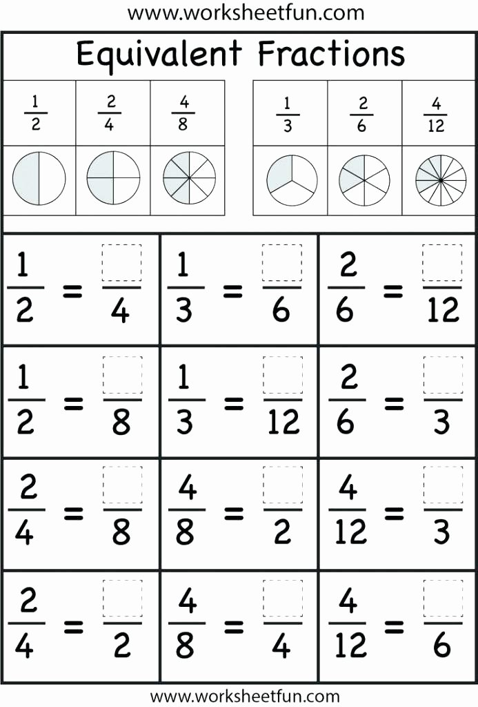 Decomposing Fractions Worksheets 4th Grade Free Equivalent Fractions Worksheets Grade