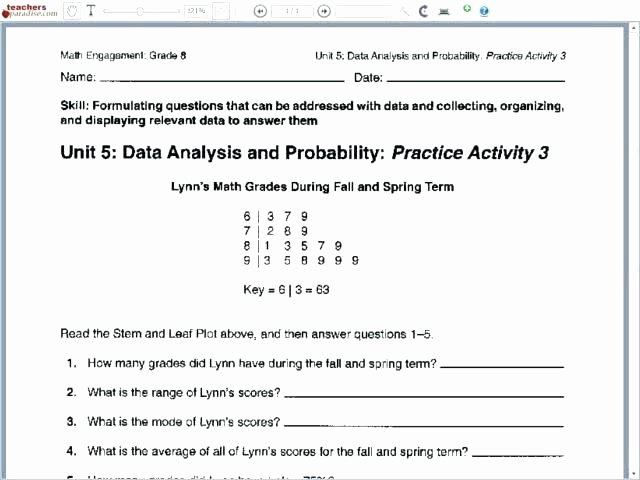 Dependent Probability Worksheet with Answers 4th Grade Probability Worksheets Algebra 2 Worksheet with