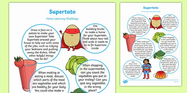 Design Your Own Superhero Worksheet Home Learning Challenge Sheet to Support Teaching On