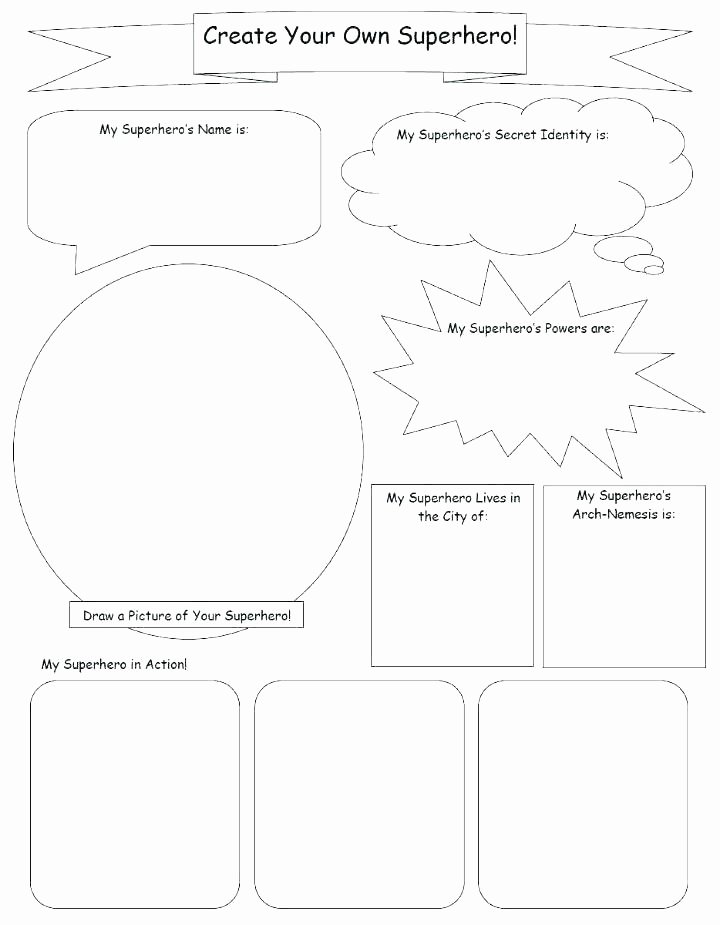 Design Your Own Superhero Worksheet Make Your Own Worksheets