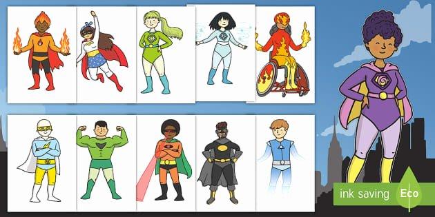 Design Your Own Superhero Worksheet Superhero themed Spelling List Year 1 Word Mat Superhero