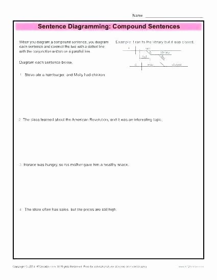 Diagramming Prepositional Phrases Worksheet Diagramming Sentences Worksheets Plete Sentence Exercises