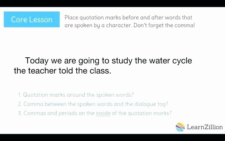Dialogue Worksheets 3rd Grade Unique 4th Grade Dialogue Worksheets Add the Quotation Marks