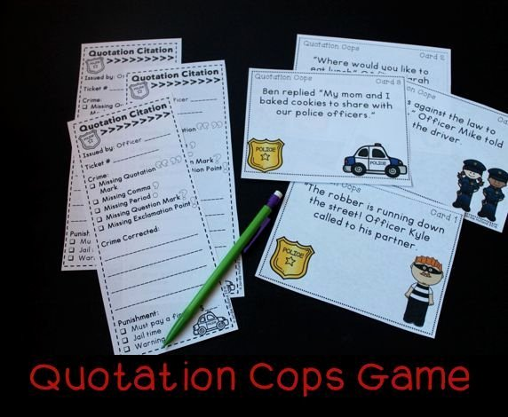Dialogue Worksheets 4th Grade Quotation Cops Game and Quiz Using Punctuation In Dialogue