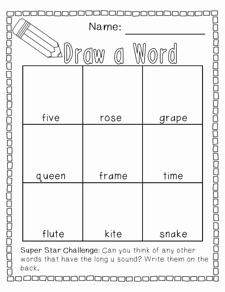 Digraph Worksheets for First Grade Long O Worksheets 1st Grade Medium Size Short Vowel Free