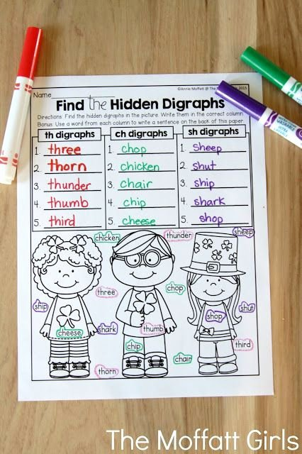 Digraph Worksheets for First Grade March Fun Filled Learning Digraphs and Blends