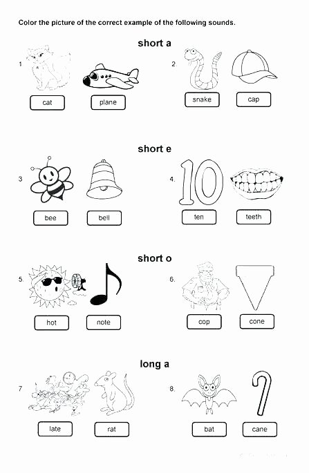 Digraph Worksheets for First Grade Phonics Worksheets First Grade Short E U Alphabet Just Free