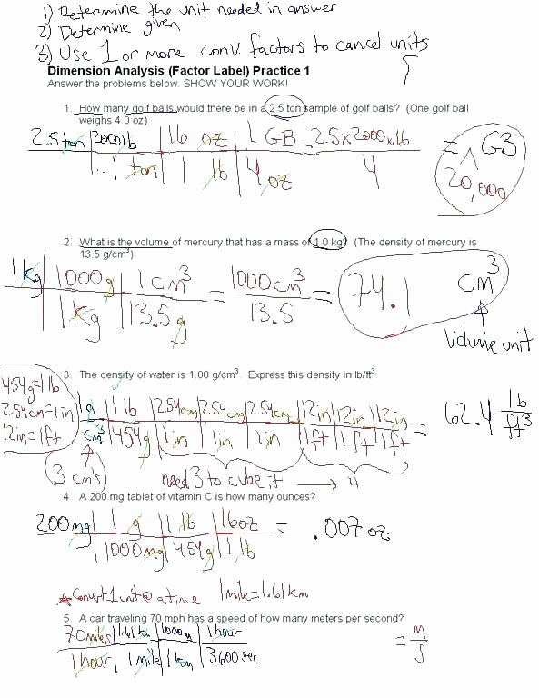 Dimensional Analysis Worksheet Answers Chemistry What is Unit Analysis Math 4 Dimensional Analysis Unit