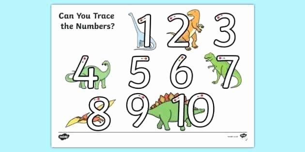 Dinosaur Worksheets for Kindergarten Dinosaur themed Number formation 1 Worksheet Worksheet